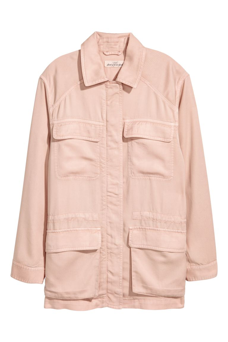 Lyocell utility jacket - Powder pink - Ladies | H&M CA