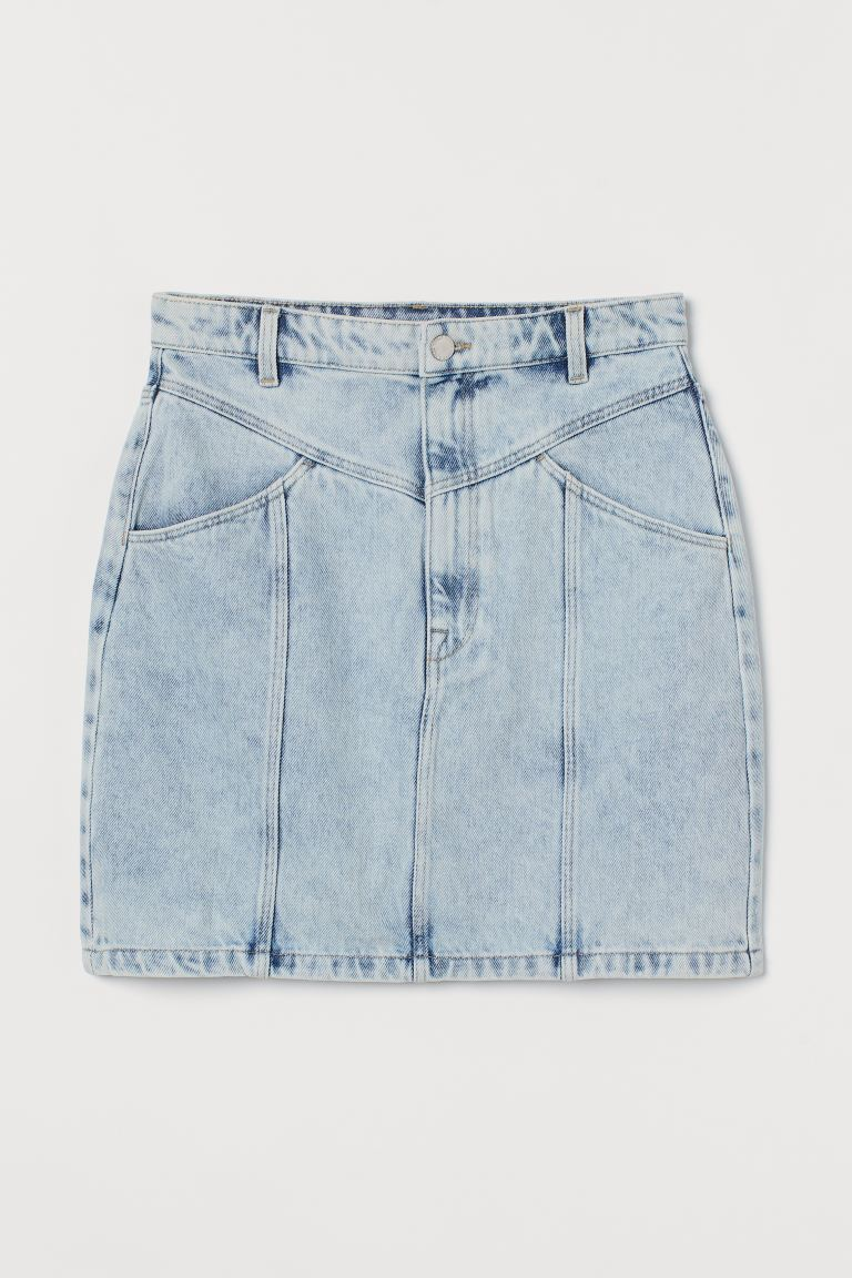 Jeansrok - Bleek denimblauw - DAMES | H&M BE