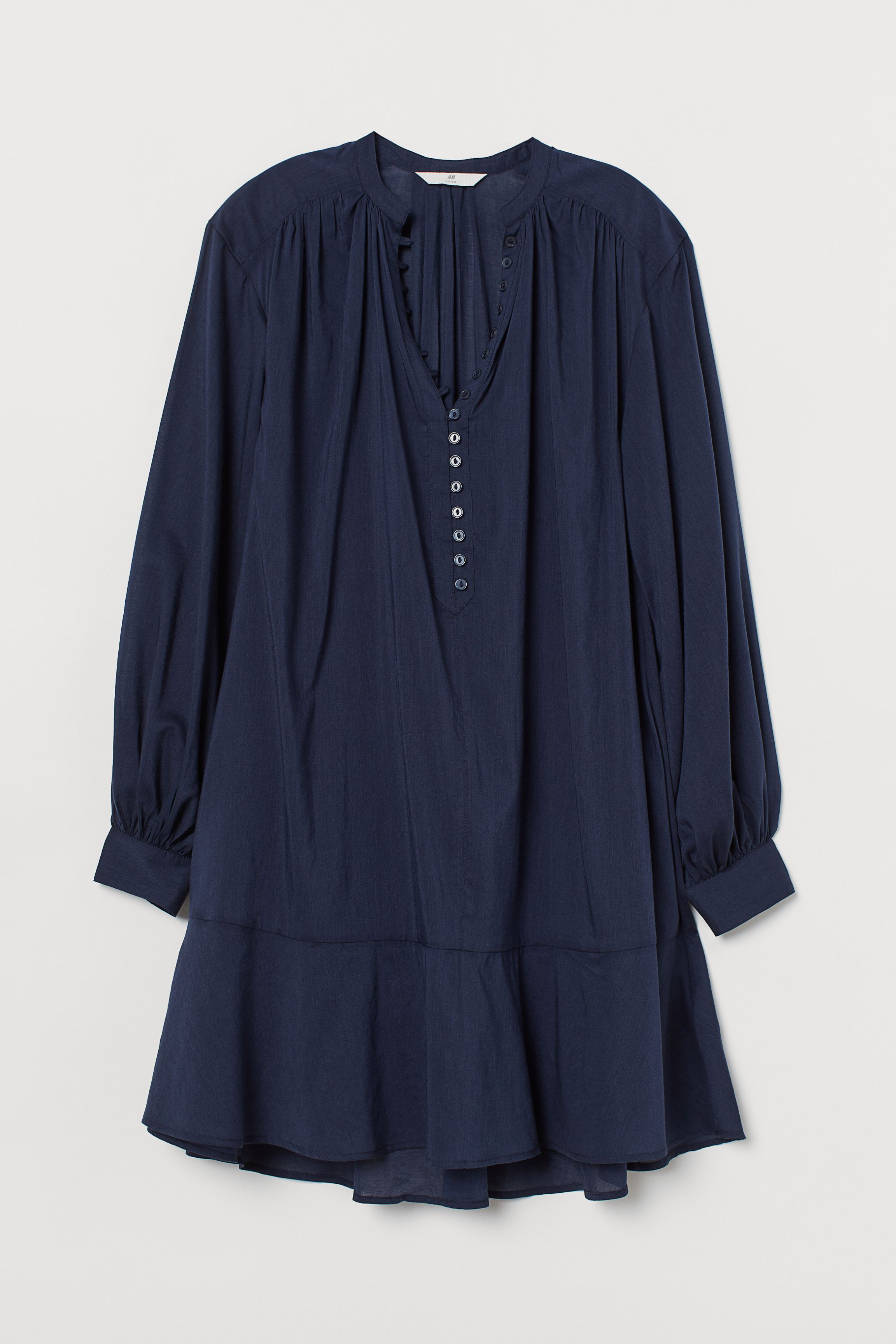 Airy Cotton-blend Tunic