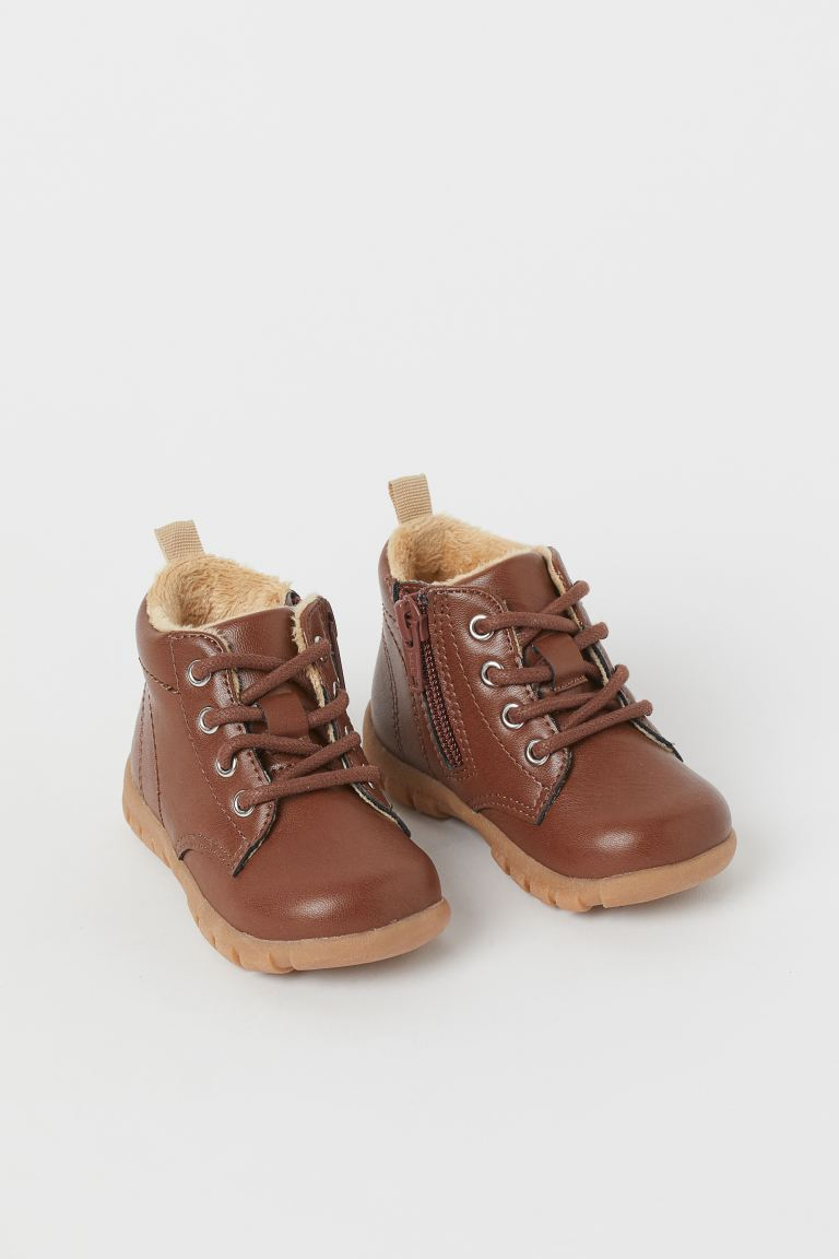 Warm-lined boots - Brown - Kids | H&M GB
