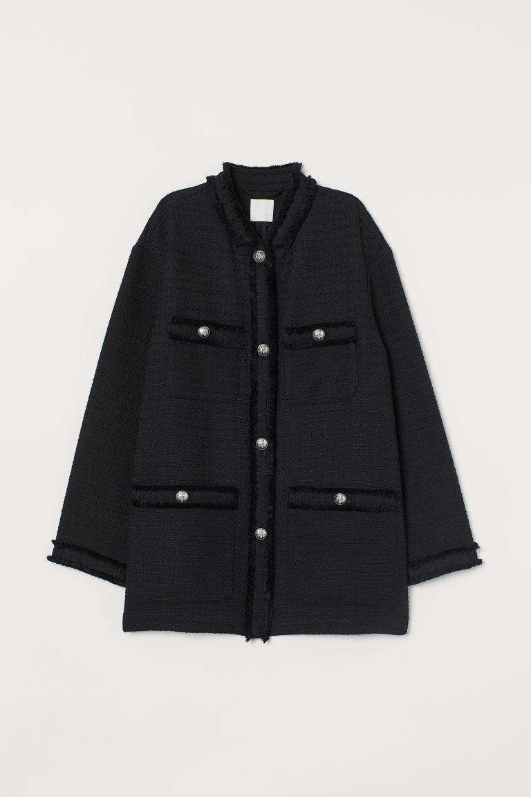 Textured-weave jacket
