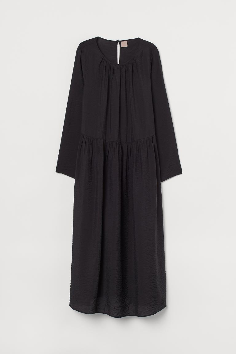 H&M+ Calf-length Dress - Black - Ladies | H&M US