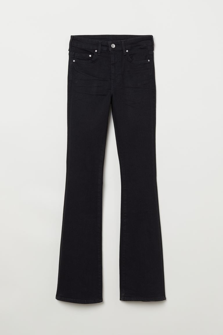 Mini Flare High Jeans - Negro - MUJER | H&M ES