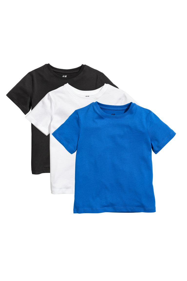 3-pack T-shirts - Bright blue - Kids | H&M US