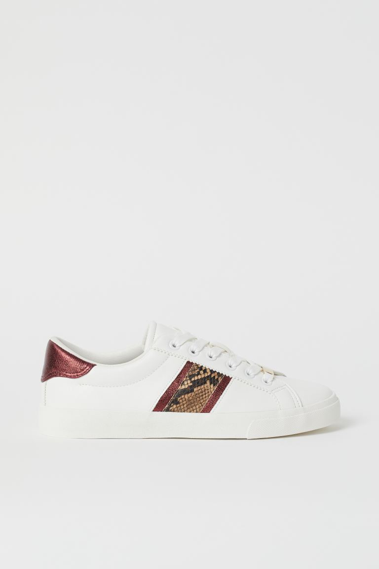 Sneakers - White/snakeskin-patterned - Ladies | H&M US