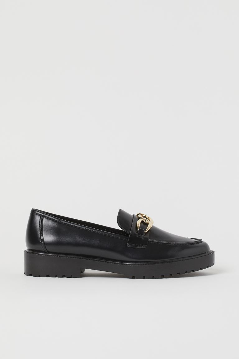 Chunky-soled loafers - Black - Ladies | H&M IN