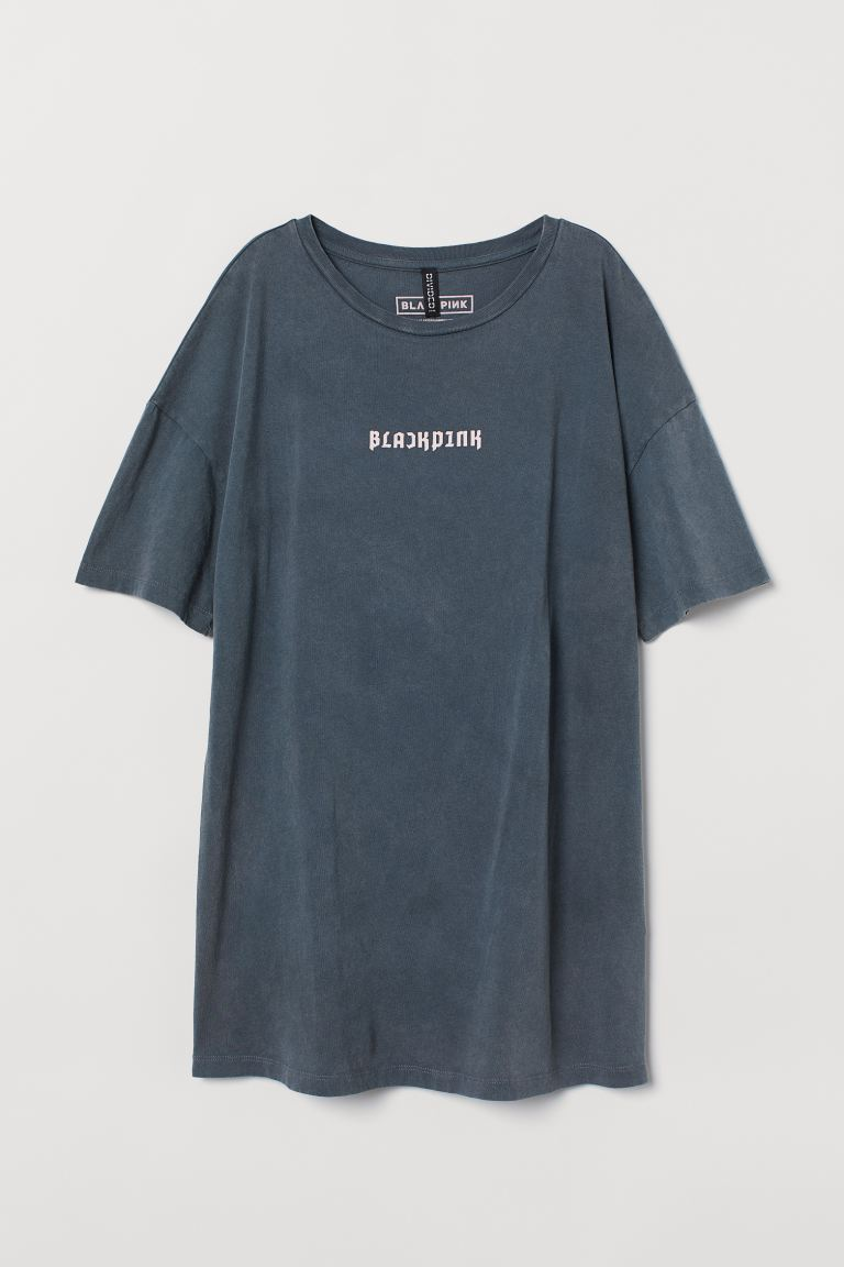 Printed T-shirt - Dark gray/Blackpink - Ladies | H&M US