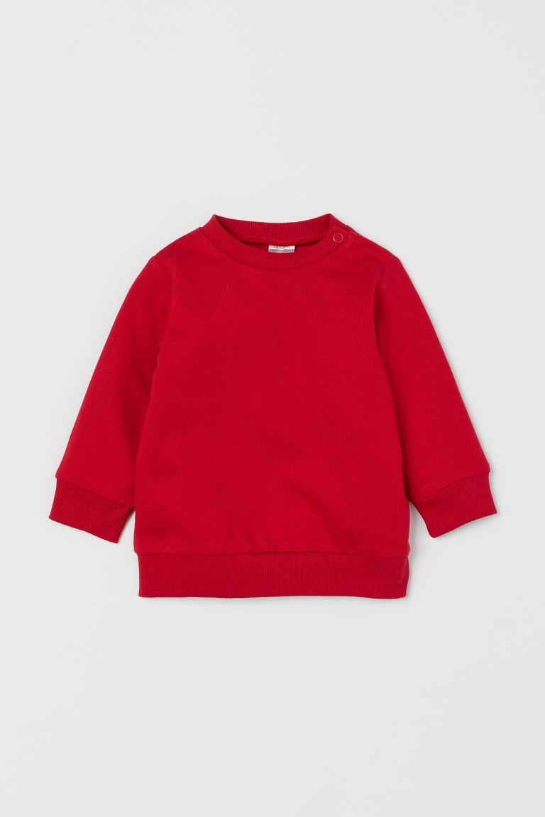 Cotton sweatshirt - Red - Kids | H&M GB