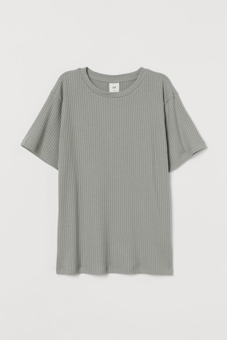Top - Relaxed Fit - Nevelgroen - DAMES | H&M NL