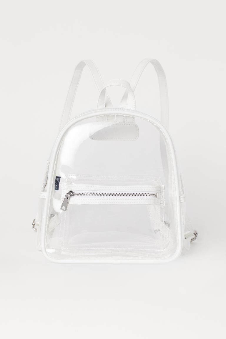 Small Backpack - White/transparent - Ladies | H&M US