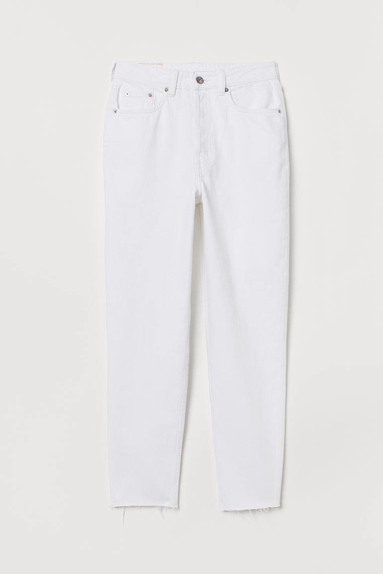 Slim Mom High Ankle Jeans - Blanco - MUJER | H&M ES