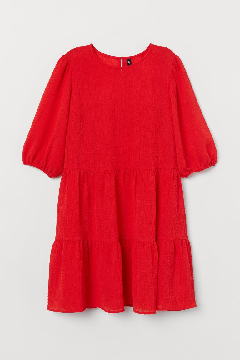 A-line dress - Bright red - Ladies | H&M