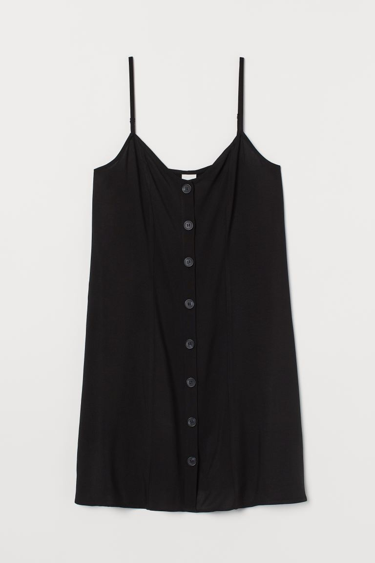 Dress with buttons - Black - Ladies | H&M GB