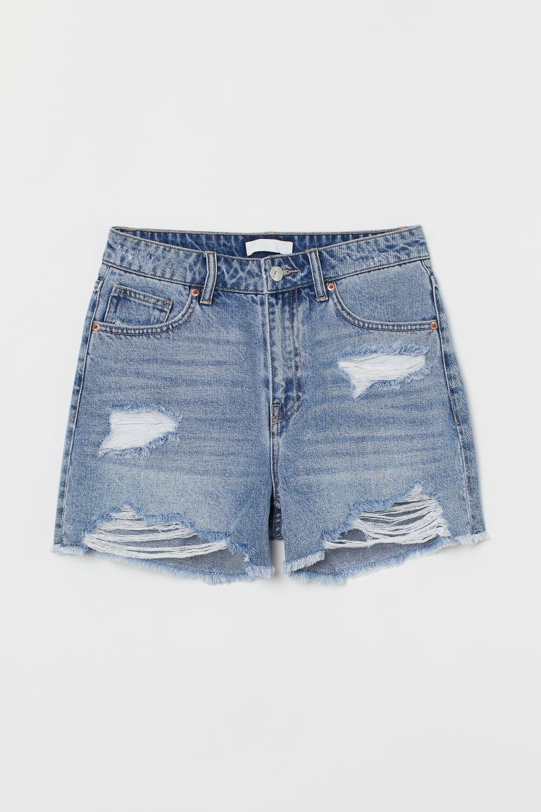 Jeansshorts High Waist - Hellblau - Ladies | H&M AT