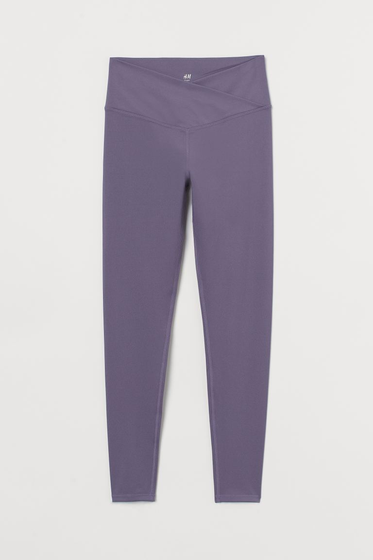 Leggings sportivi con incrocio - Viola - DONNA | H&M CH
