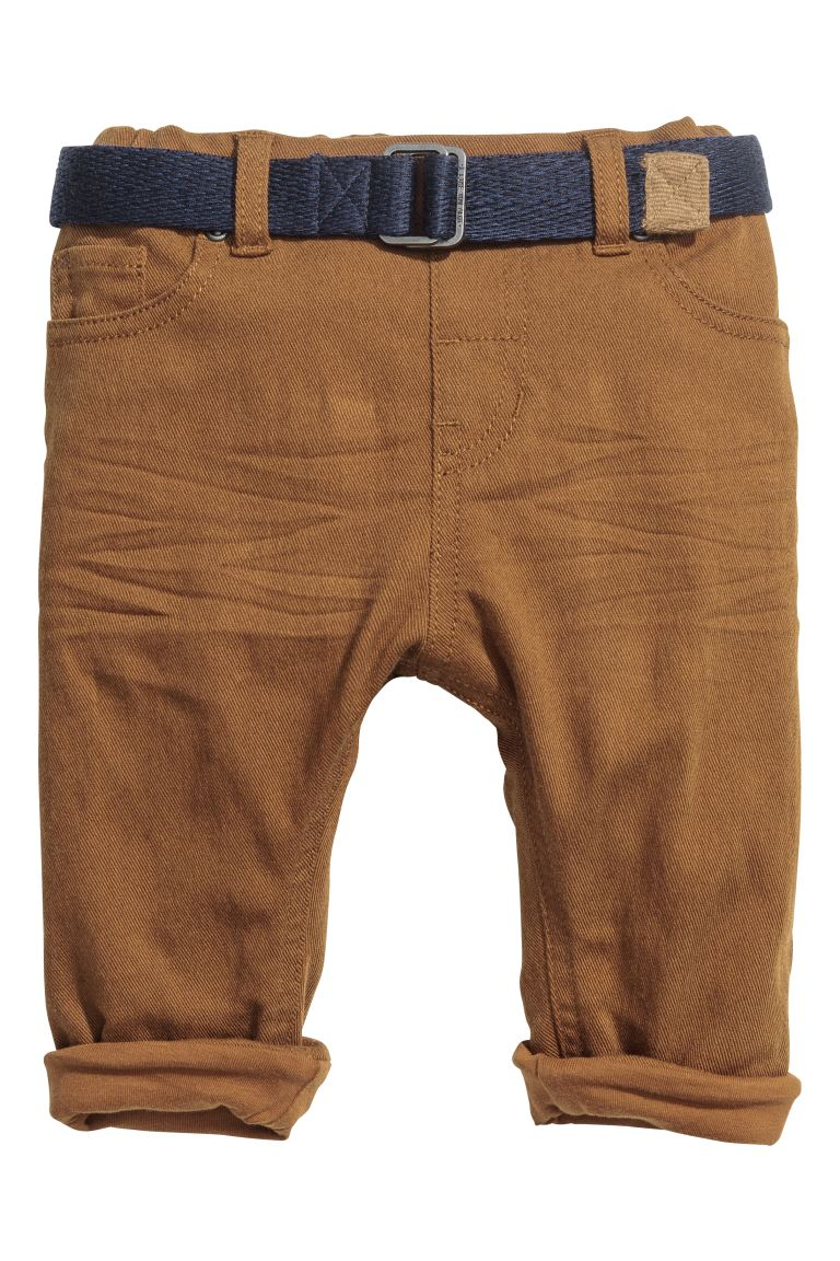 Twill Pants - Brown - Kids | H&M CA