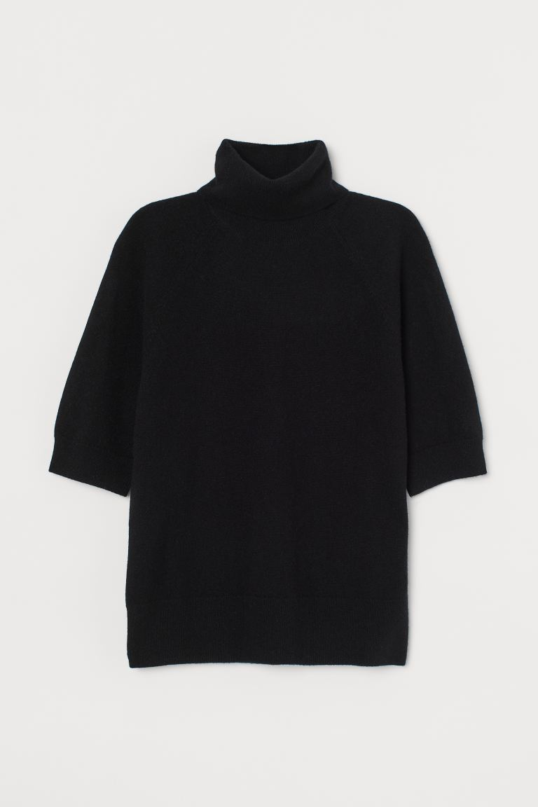 Cashmere polo-neck jumper - Black - Ladies | H&M GB