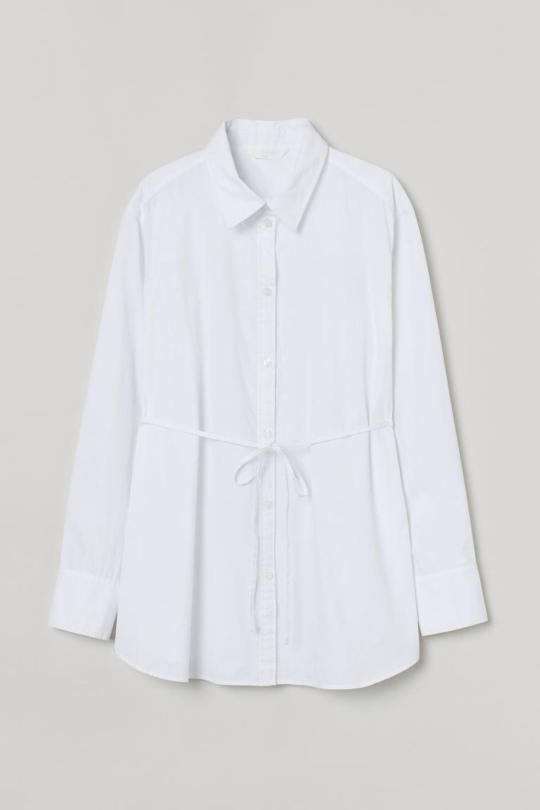 MAMA Cotton shirt - White - Ladies | H&M IE