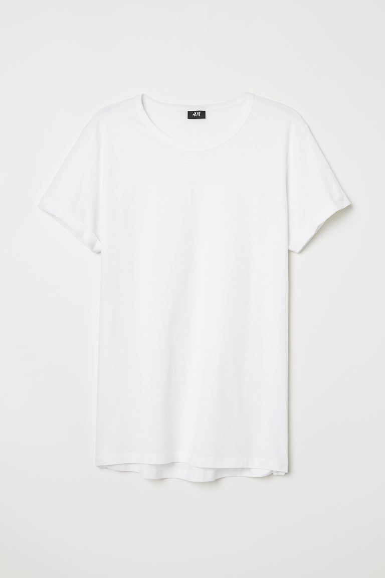 Slub Jersey T-shirt - White - Men | H&M CA
