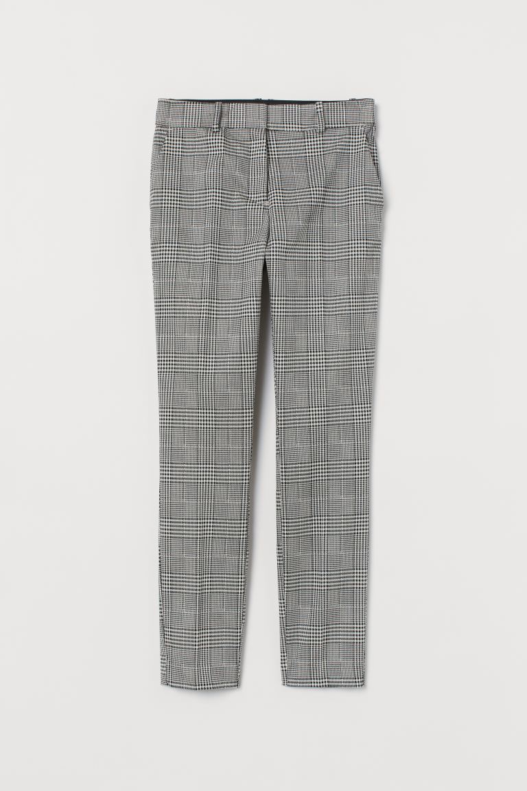 Slacks - White/black plaid - Ladies | H&M US