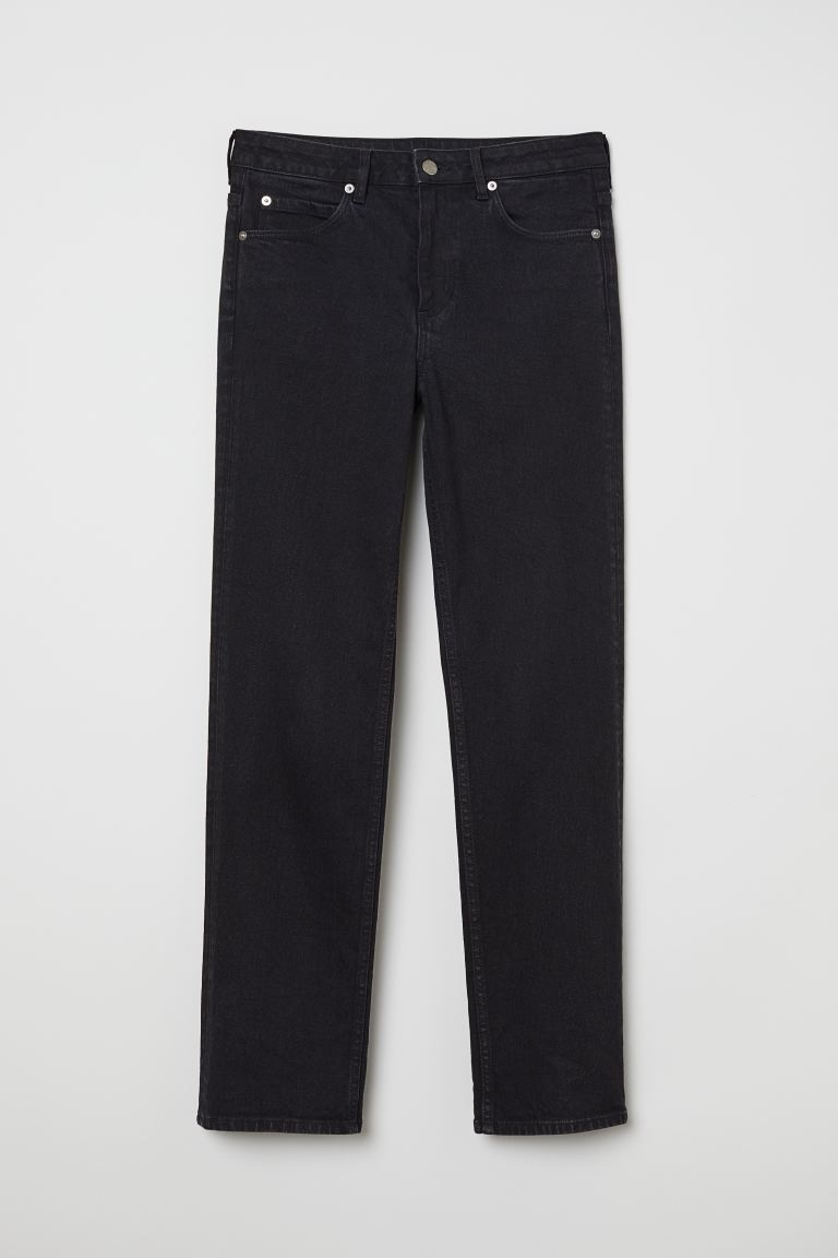 Straight Jeans - Gris oscuro - MUJER | H&M ES