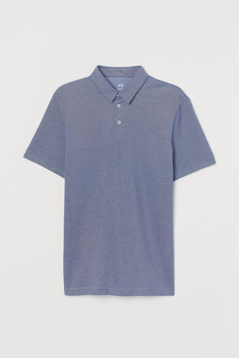 Polo COOLMAX® Slim Fit - Blu mélange - UOMO | H&M IT