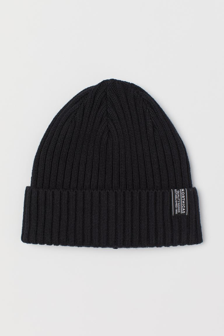 Rib-knit hat - Black - Men | H&M IE