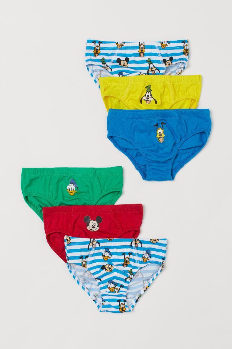 6-pack printed boys' briefs - Blue/Mickey Mouse - Kids | H&M