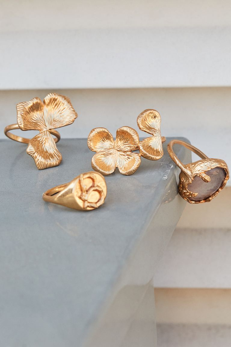 4-pack rings - Gold-coloured - Ladies | H&M GB