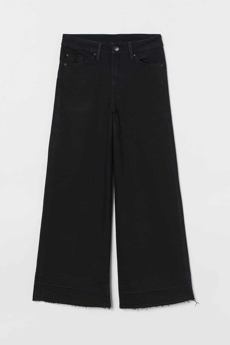 Culotte High Ankle Jeans - Black - Ladies | H&M US