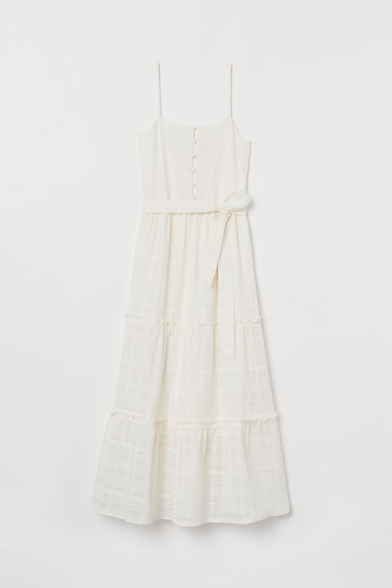 Cotton Maxi Dress - Cream - Ladies | H&M US