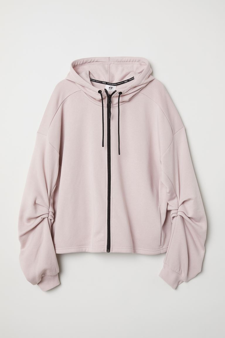 Hooded sports jacket - Light pink - Ladies | H&M GB