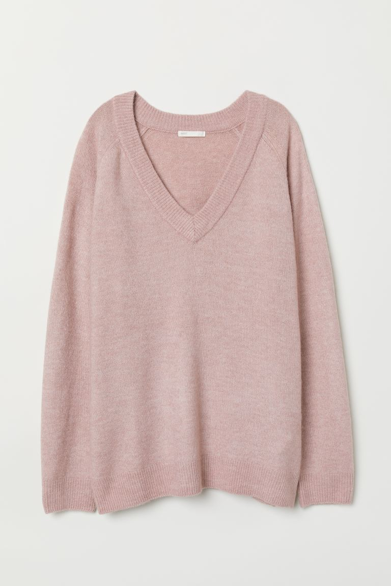 V-neck jumper - Old rose - Ladies | H&M GB