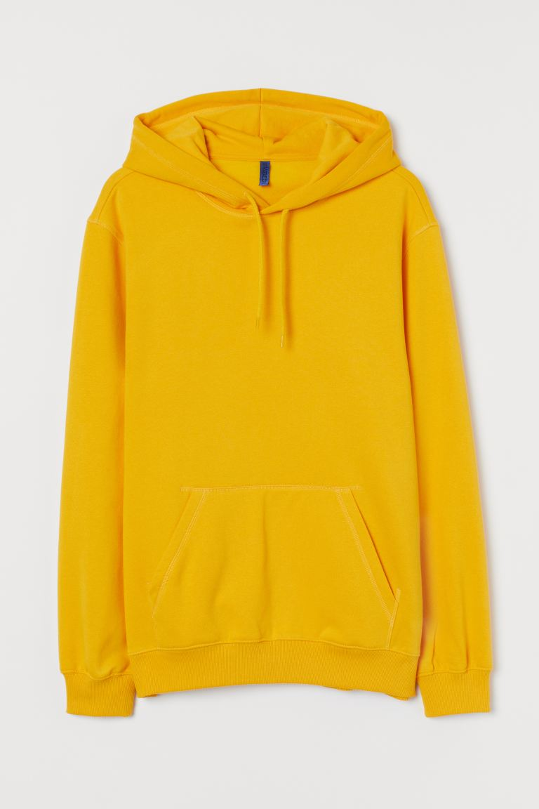 Sudadera con gorro Relaxed Fit - Amarillo - Men | H&M US