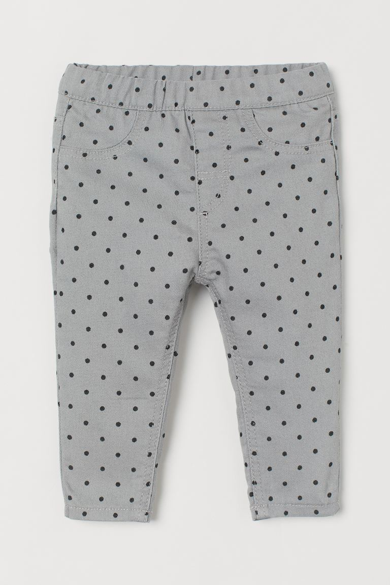 Jeggings - Light grey/Spotted - Kids | H&M IE