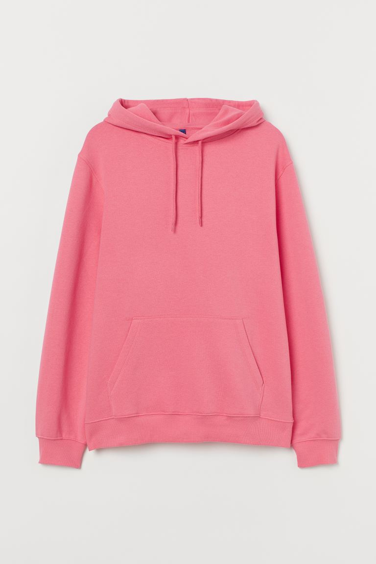 Relaxed Fit Hoodie - Raspberry pink - Men | H&M
