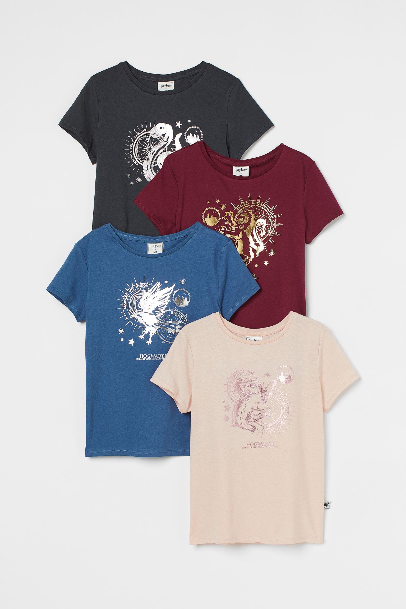4er-Pack T-Shirts mit Druck