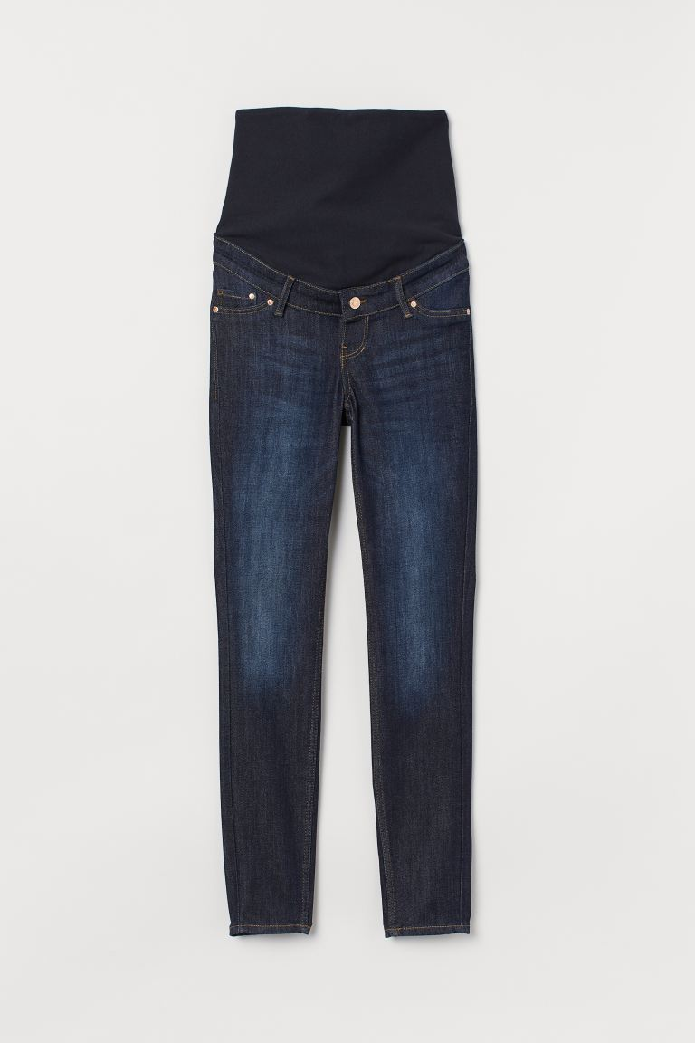 MAMA Skinny Jeans - Dark denim blue - Ladies | H&M US