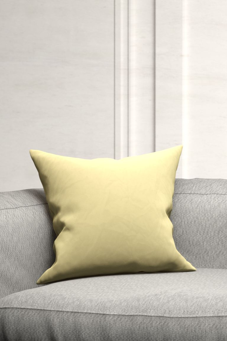 Cotton Velvet Cushion Cover - Light yellow - Home All | H&M US