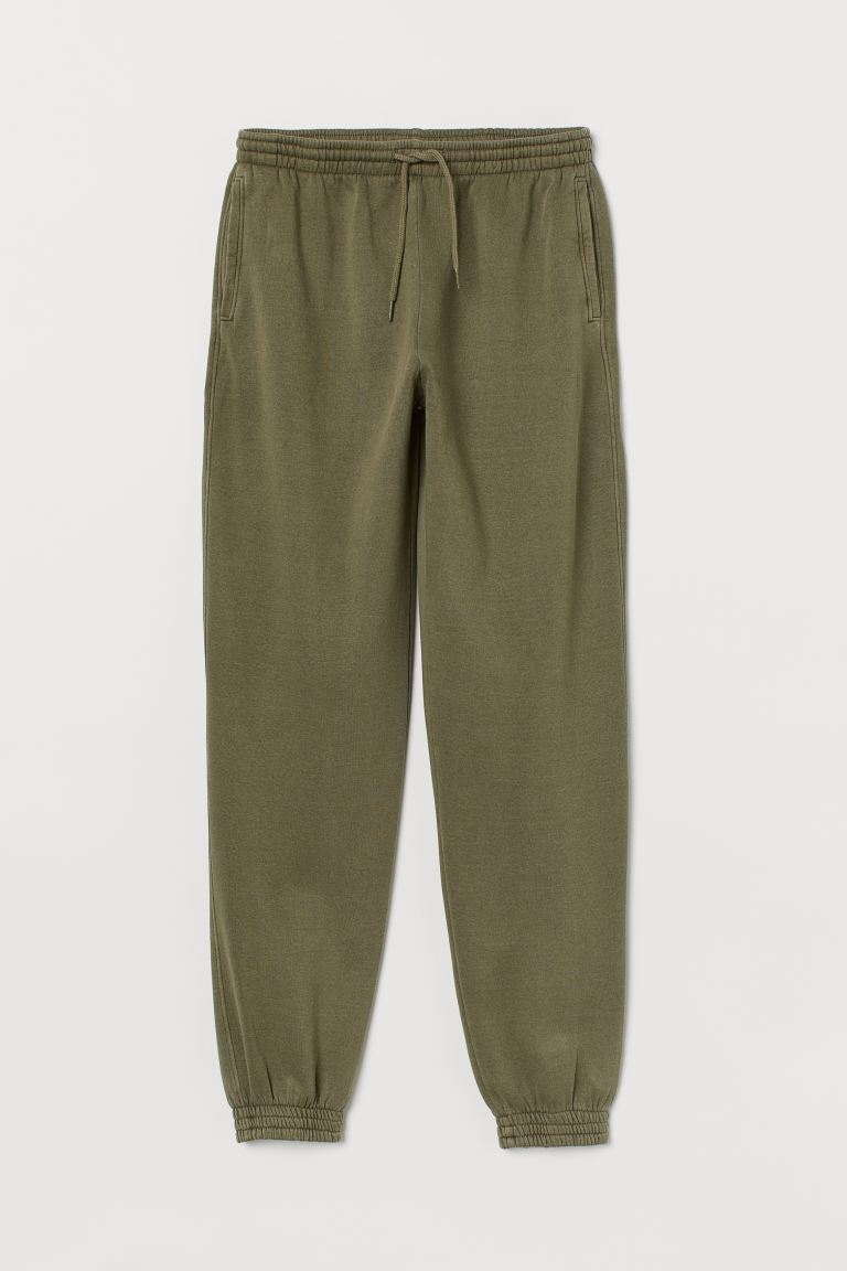 Joggers High Waist - Khaki green - Ladies | H&M US