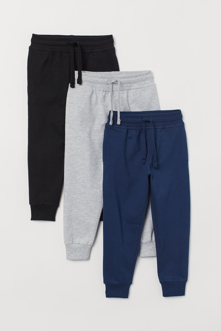 3-pack joggers - Dark blue - Kids | H&M