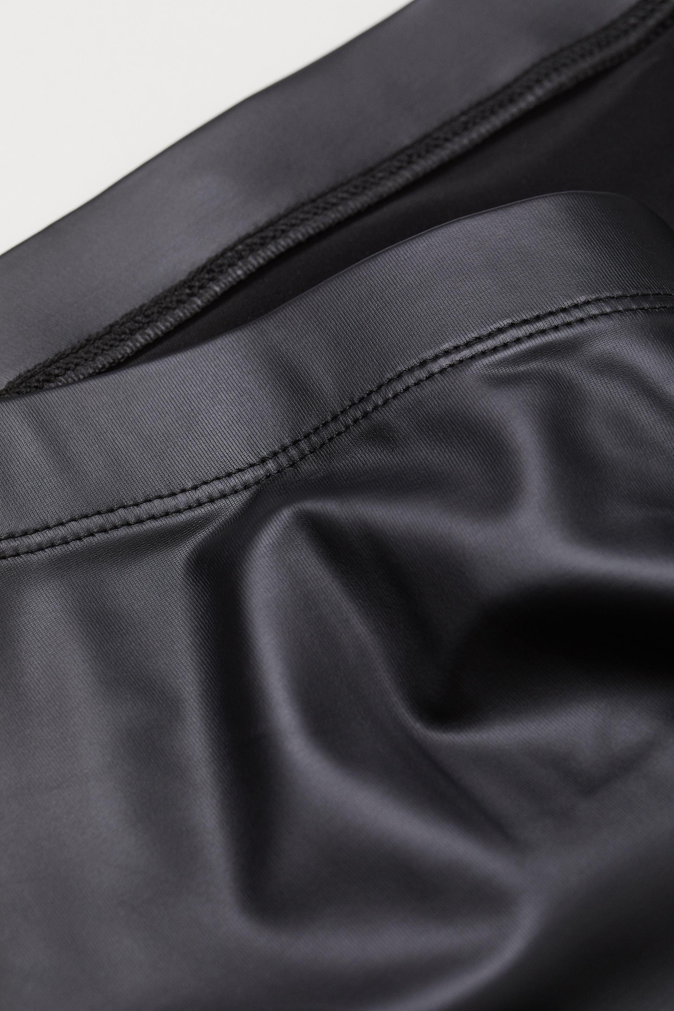 H&M+ Faux Leather Leggings