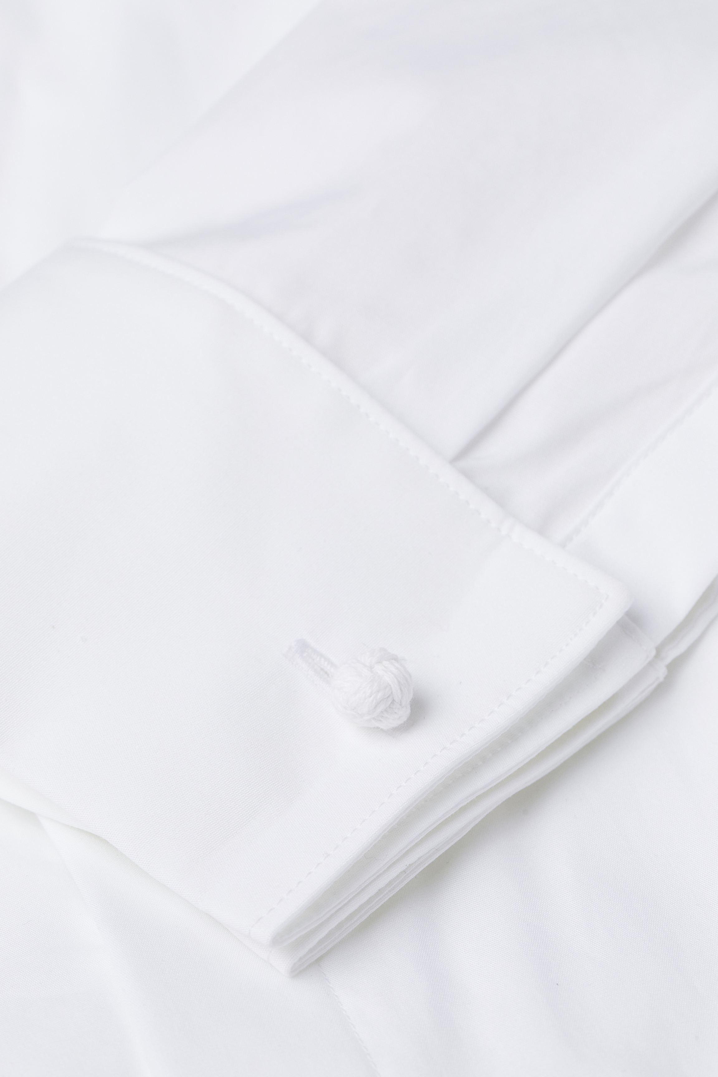 Cotton Poplin Tuxedo Shirt
