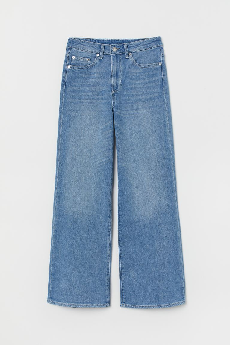 Wide High Ankle Jeans - Light denim blue - Ladies | H&M US