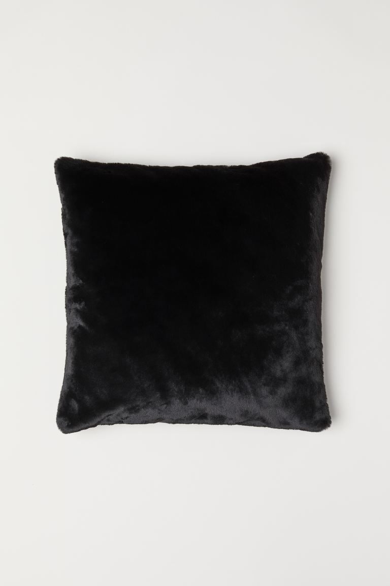 Faux Fur Cushion Cover - Black - Home All | H&M US