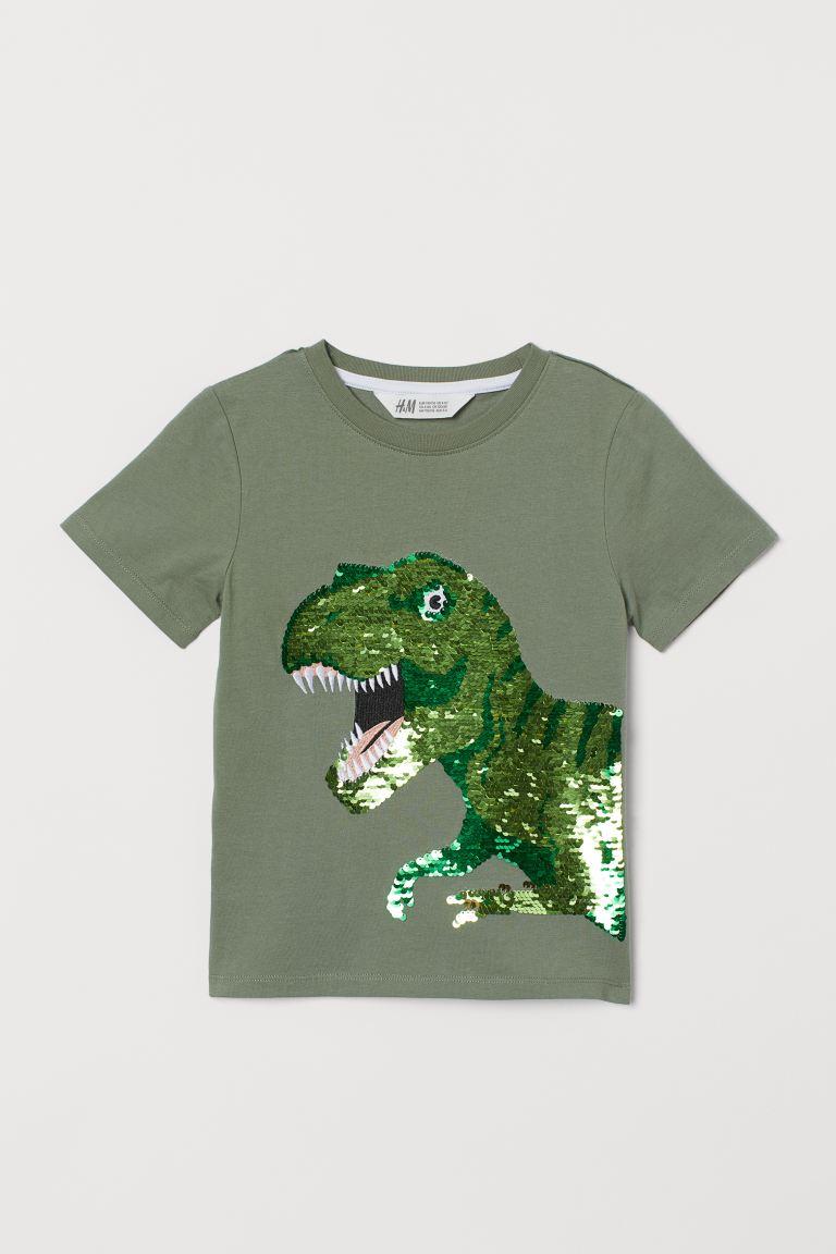 Reversible sequin T-shirt