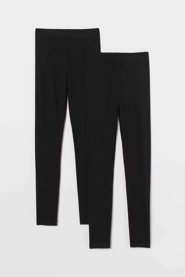 Leggings in jersey, 2 pz - Nero - DONNA | H&M IT