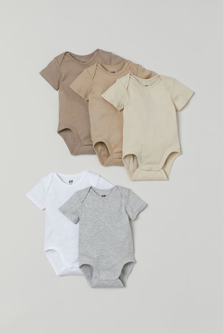 5-pack bodysuits - Beige - Kids | H&M GB
