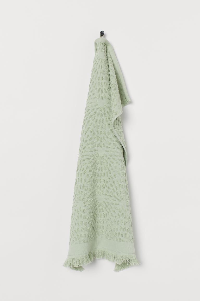 Serviette à motif jacquard - Vert clair - Home All | H&M FR