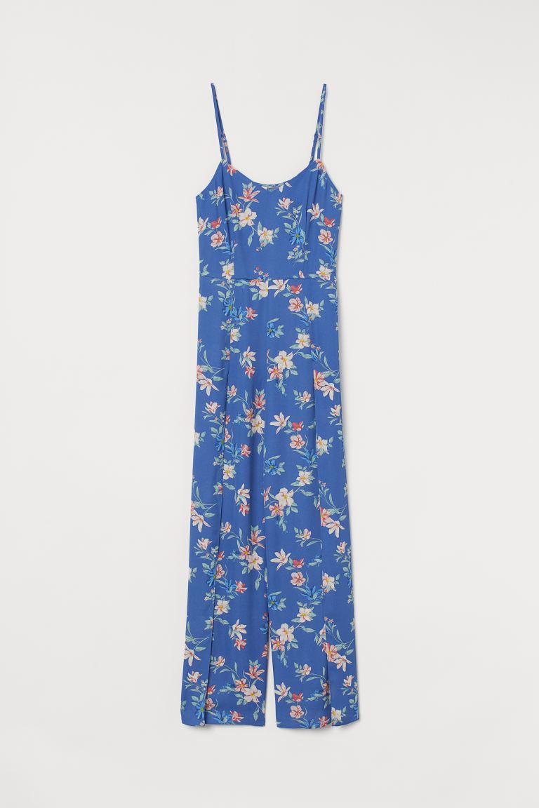 Patterned jumpsuit - Blue/Floral - Ladies | H&M GB